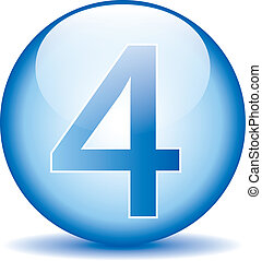 Number four button