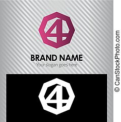 Number four logo. Logo 4 vector
