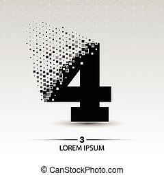 Number four logo vector design illustration