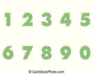 number icon on white background