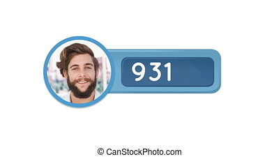 Number is increasing 4k - Digital animation of a photo of a ...