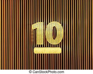 (number, kleine, ten), nummer 10, gaten