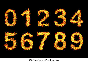 number made from fire
