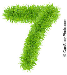 Number made of grass - 7 Seven
