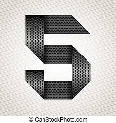 Number metal ribbon - 5 - five