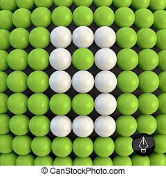 Number nine. Abstract mathematics background.