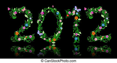 number of flowers per year 2012