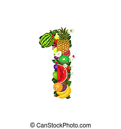 Number of fruit 1