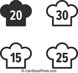 Number of recipes icons