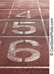 number on a running track