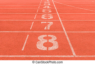number on running track background