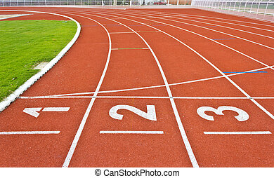 number on running track lines