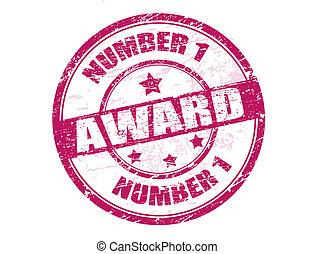 number one award stamp
