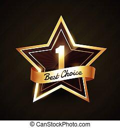 number one best choice golden label vector design