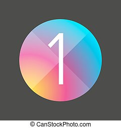 Number one colorful button