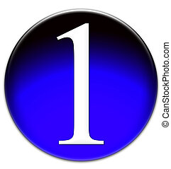 Number one glassy button - Number 1 Times New Roman font ...