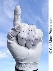 Number One Golfer - Golfer with Golf Glove Doing Number One...