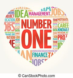 NUMBER ONE heart word cloud