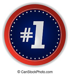 number one icon button