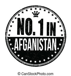 Number one in Afganistan stamp - Number one in Afganistan...