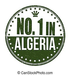 Number one in Algeria stamp