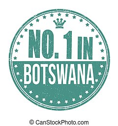 Number one in Botswana stamp