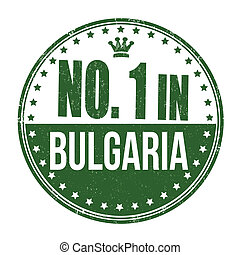 Number one in Bulgaria stamp