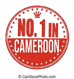 Number one in Cameroon stamp
