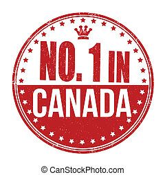Number one in Canada stamp
