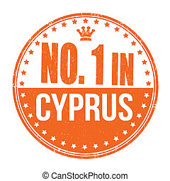 Number one in Cyprus stamp