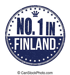 Number one in Finland stamp
