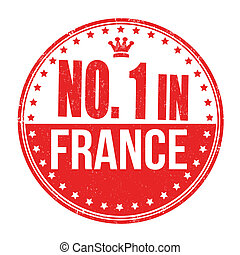 Number one in France stamp