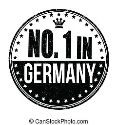 Number one in Germany stamp