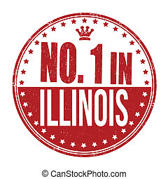 Number one in Illinois stamp
