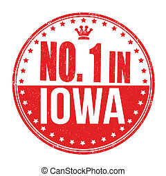 Number one in Iowa stamp