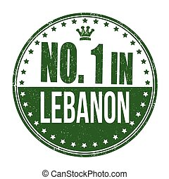 Number one in Lebanon stamp