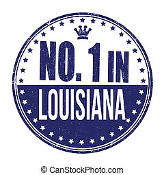 Number one in Louisiana stamp