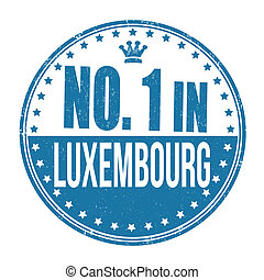 Number one in Luxembourg stamp
