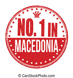 Number one in Macedonia stamp