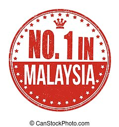 Number one in Malaysia stamp
