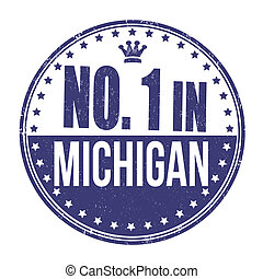 Number one in Michigan stamp