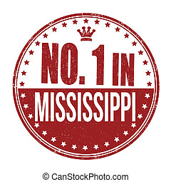 Number one in Mississippi stamp