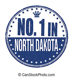 Number one in North Dakota stamp