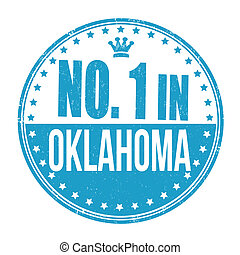 Number one in Oklahoma stamp