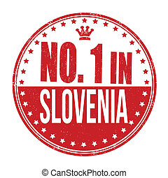 Number one in Slovenia stamp