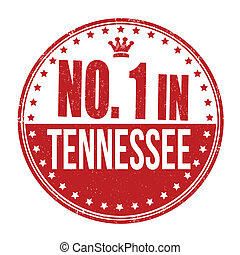 Number one in Tennessee stamp