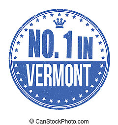 Number one in Vermont stamp