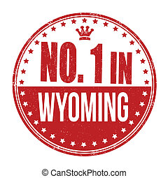 Number one in Wyoming stamp