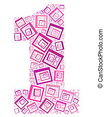Number One info-text/cloud word/word collage Composed with ...