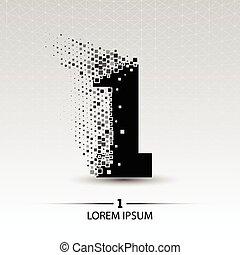Number one logo vector design illustration